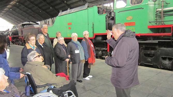 Rosalba Sevilla La Nueva visita el Museo del Ferrocarril