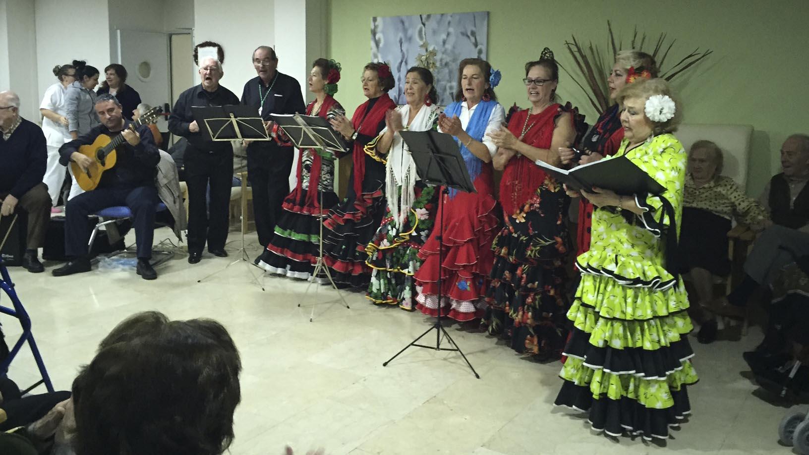 Actuación del Coro Rociero de Sevilla la Nueva
