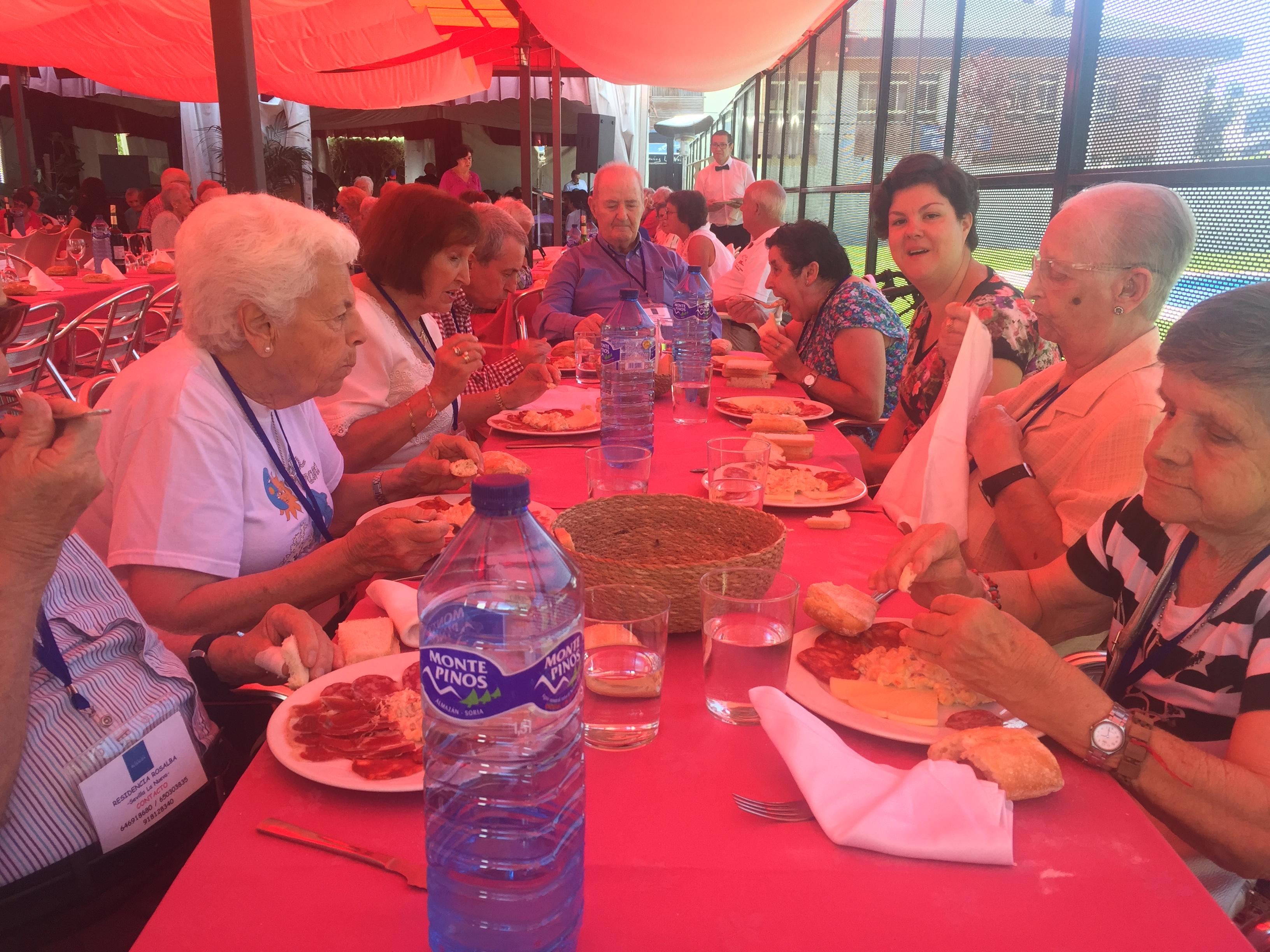 Comida con motivo de la celebración de las Fiestas Patronales de Sevilla la Nueva