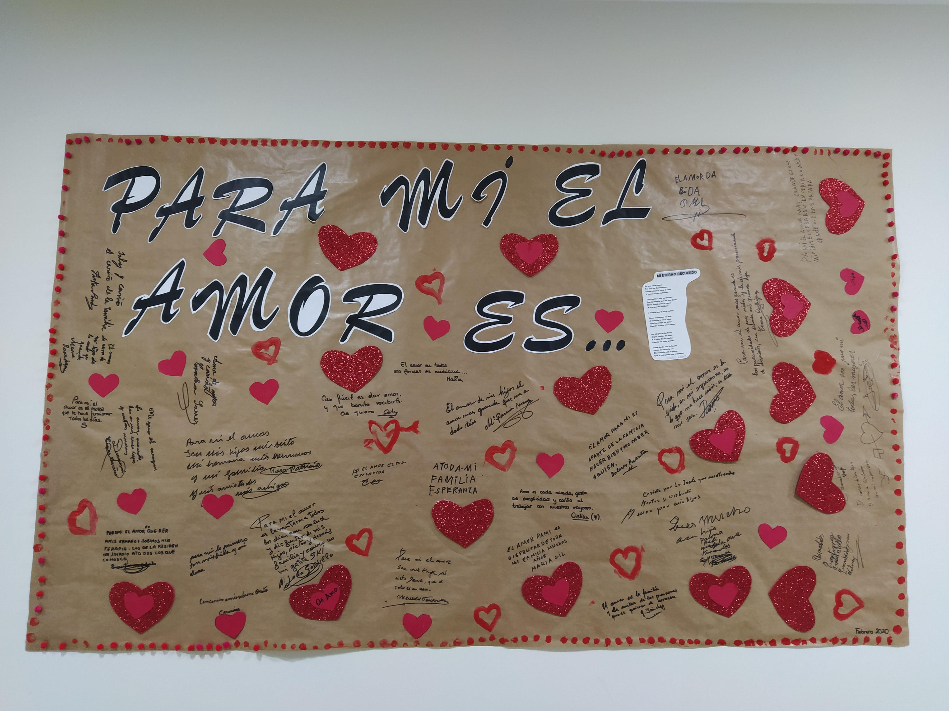 """""""Romántico"""" mural de San Valentín en Rosalba Sevilla la Nueva"""