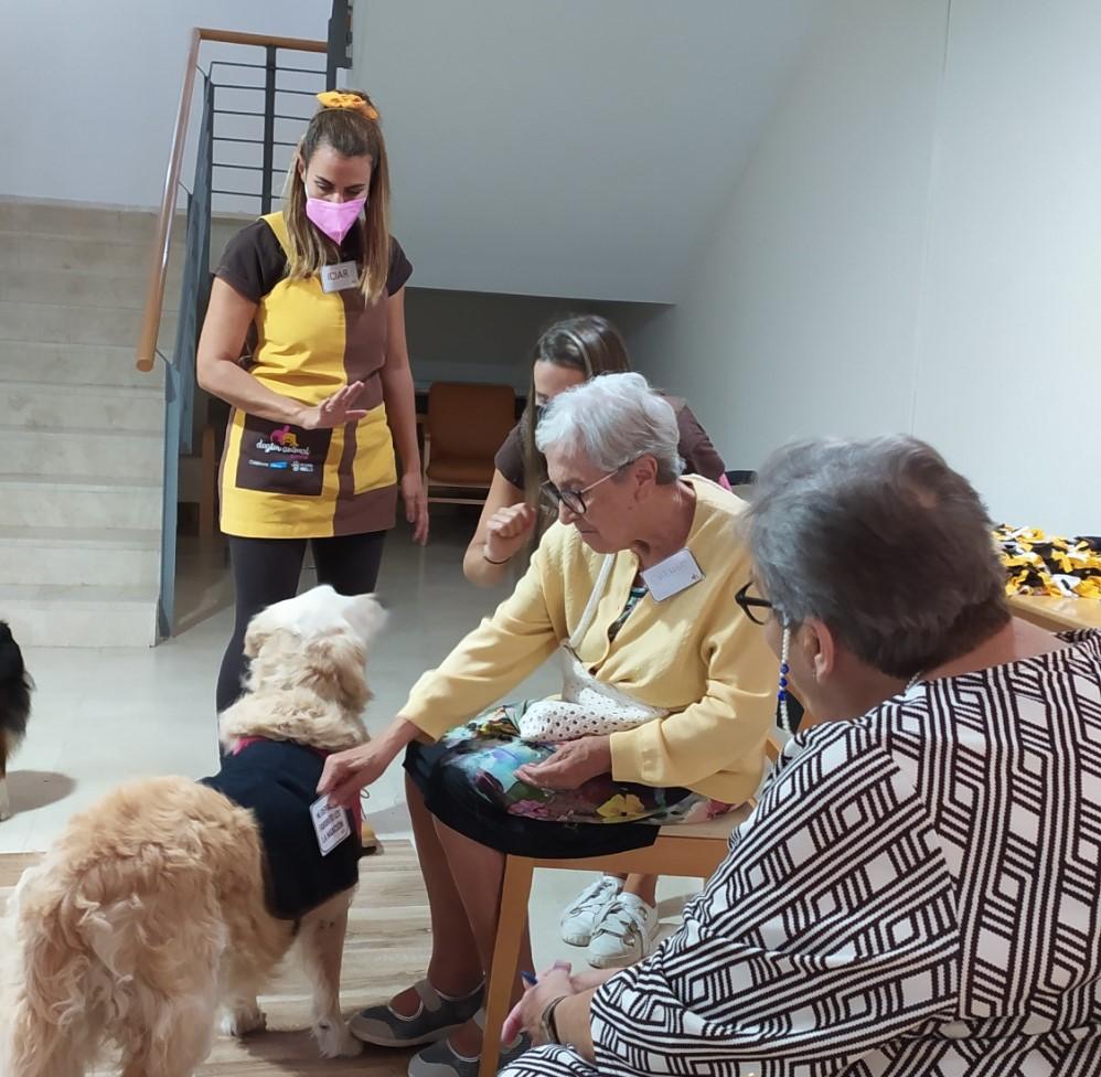 Continuamos con la terapia asistida con animales en Rosalba Sevilla la Nueva